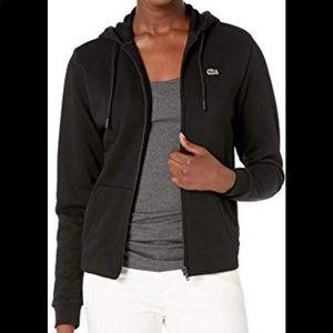 Lacoste Black Zipper Hoodie NWOT